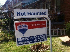 Haunted House for sale sign 2