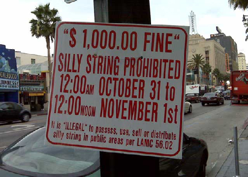 Silly String Sign